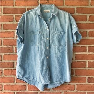 Madewell Chambray Button Front Shirt Medium